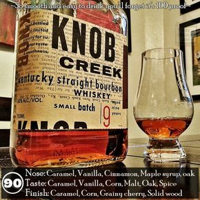 knob creek is one of the 4 premium bourbons put out by jim beam