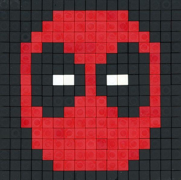 Deadpool perler bead pattern | Marvel | Pinterest | Cobija, Comic ...