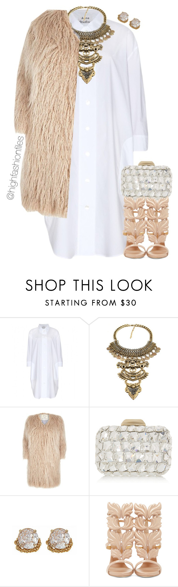 Mid Season. by highfashionfiles on Polyvore featuring Acne Studios, River Island, Giuseppe Zanotti, Jimmy Choo and ABS by Allen Schwartz