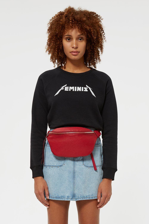 Rebecca Minkoff Womens Jennings Sweatshirt Sweatshirt
