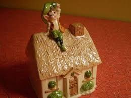Leaping Leprechauns, Gorham Leprechaun, Cottage Porcelain, Piggy Bank