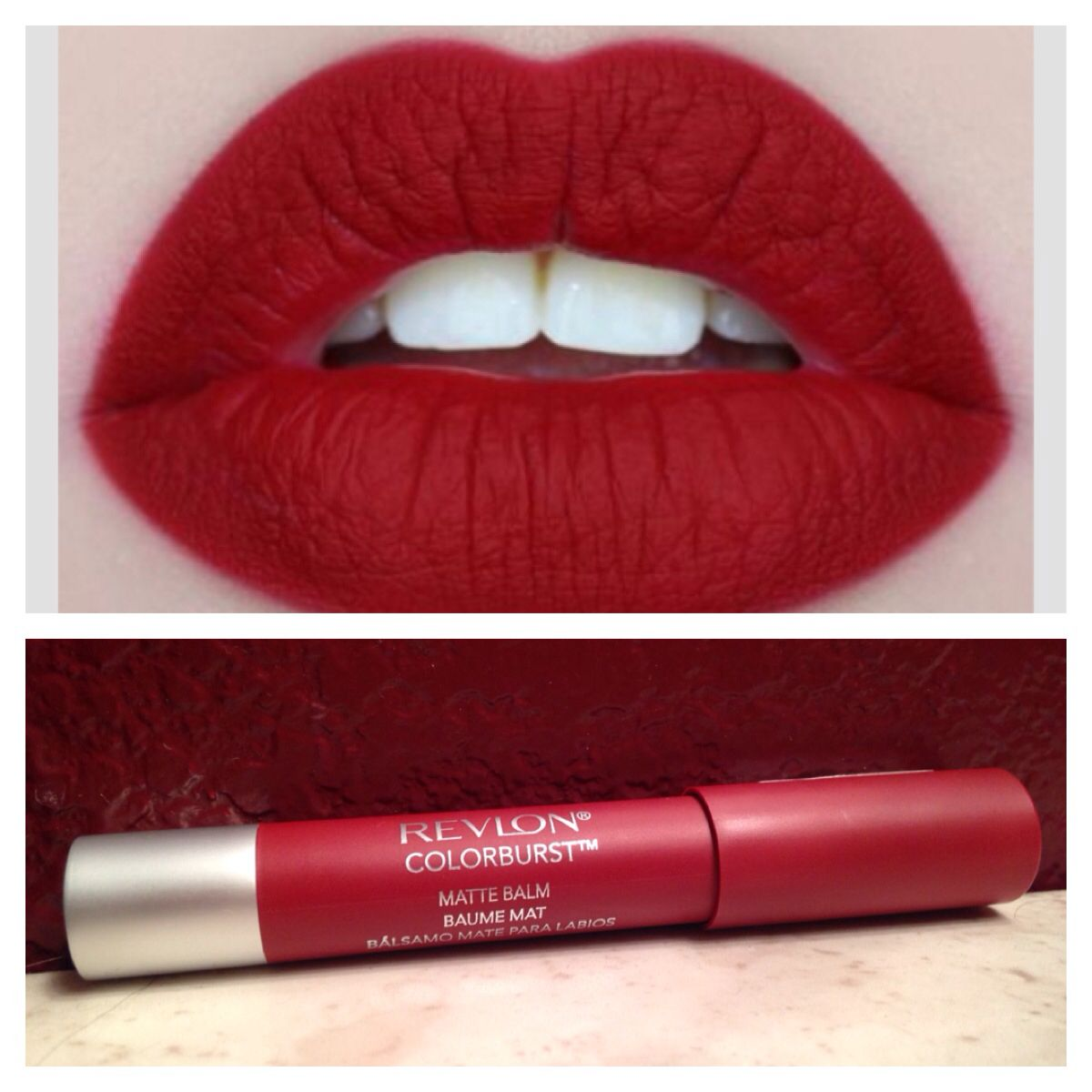 Get Matte Red Lips for a cheap price! Revlon Colorburst ...