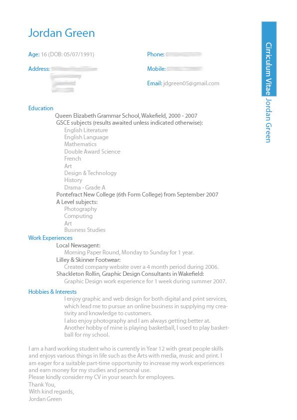 1000+ images about CV Design on Pinterest | Resume, Resume design ...