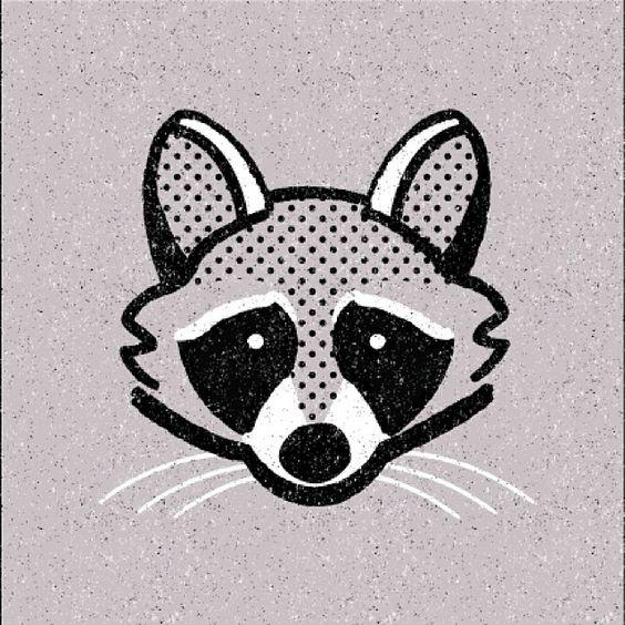 Raccoon Drawing Tattoo Animal Art Illustration Forest Animals Woodland Drawings Print Patterns