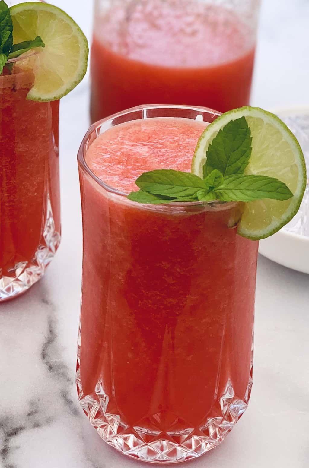 Homemade Watermelon Juice Recipe Watermelon Juice Homemade Drinks Watermelon