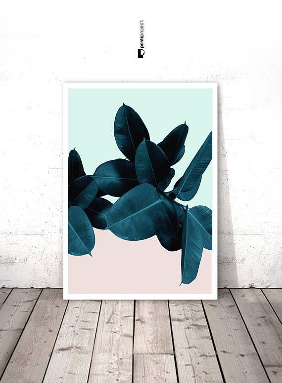 Hojas de imprimir hojas, Tropical arte para imprimir, impresión de ...