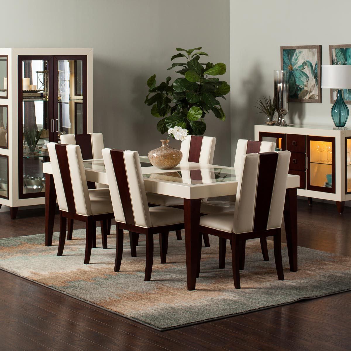 Casual Modern Dining Room: Zeno Dining Collection