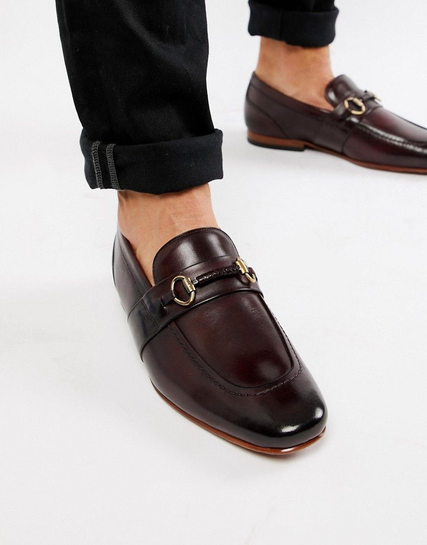 e5b0bbd0bac TED BAKER DAISER BAR LOAFERS IN BURGUNDY LEATHER - RED.  tedbaker  shoes