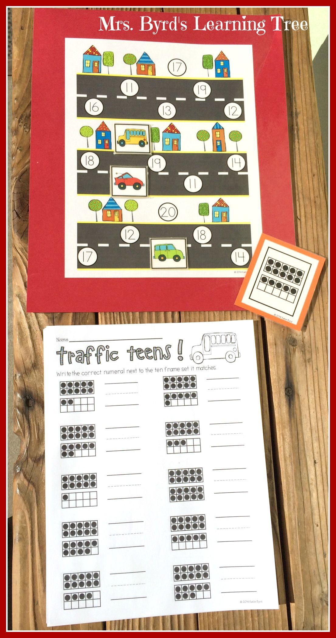 Traffic Teens A Math Game For Numbers 11 20