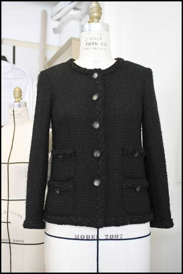 0b94f757 THE Classic Black CHANEL jacket that most ladies would love to have in  their closet