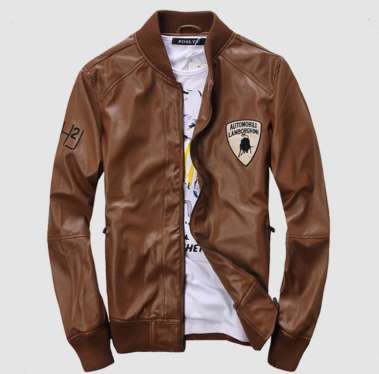 Men Cheap Brown Motorcycle Leather Jacket Online | Duds: Kicks ...