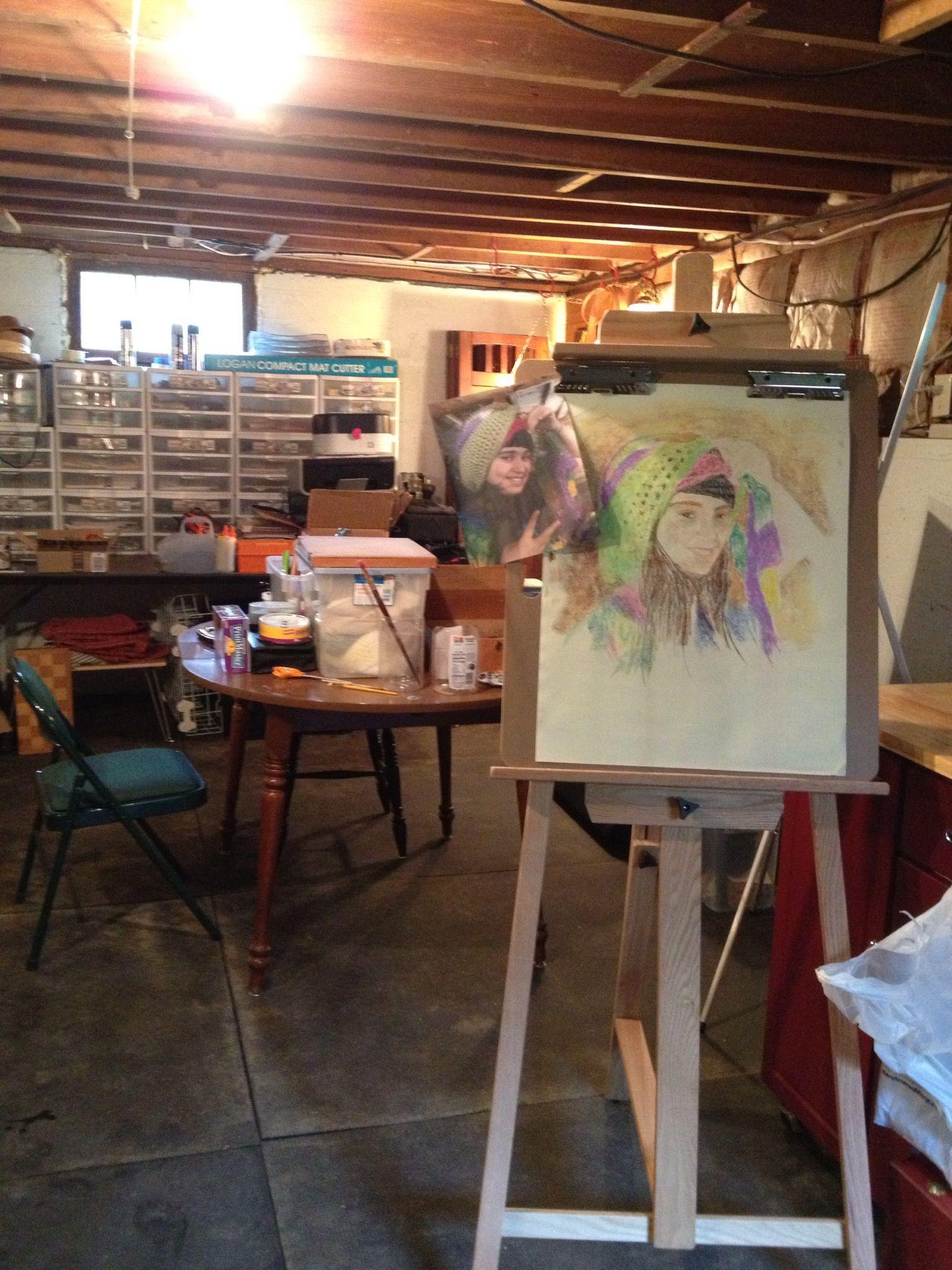 New England House Basement Art Studio Art Studio