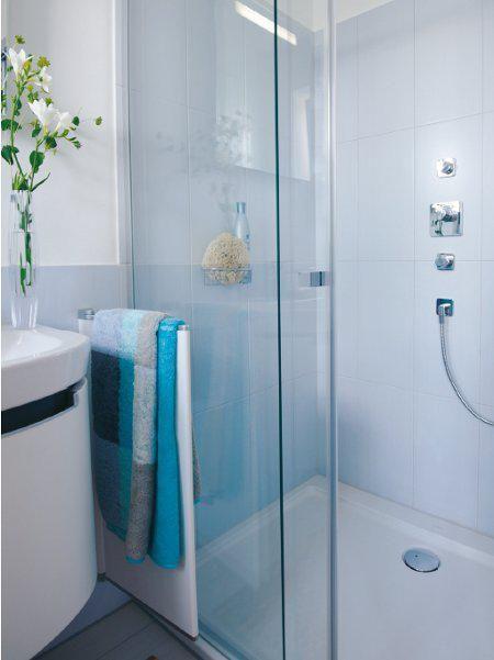 Eine kleine Nasszelle wird zum Traumbad Wc mit dusche
