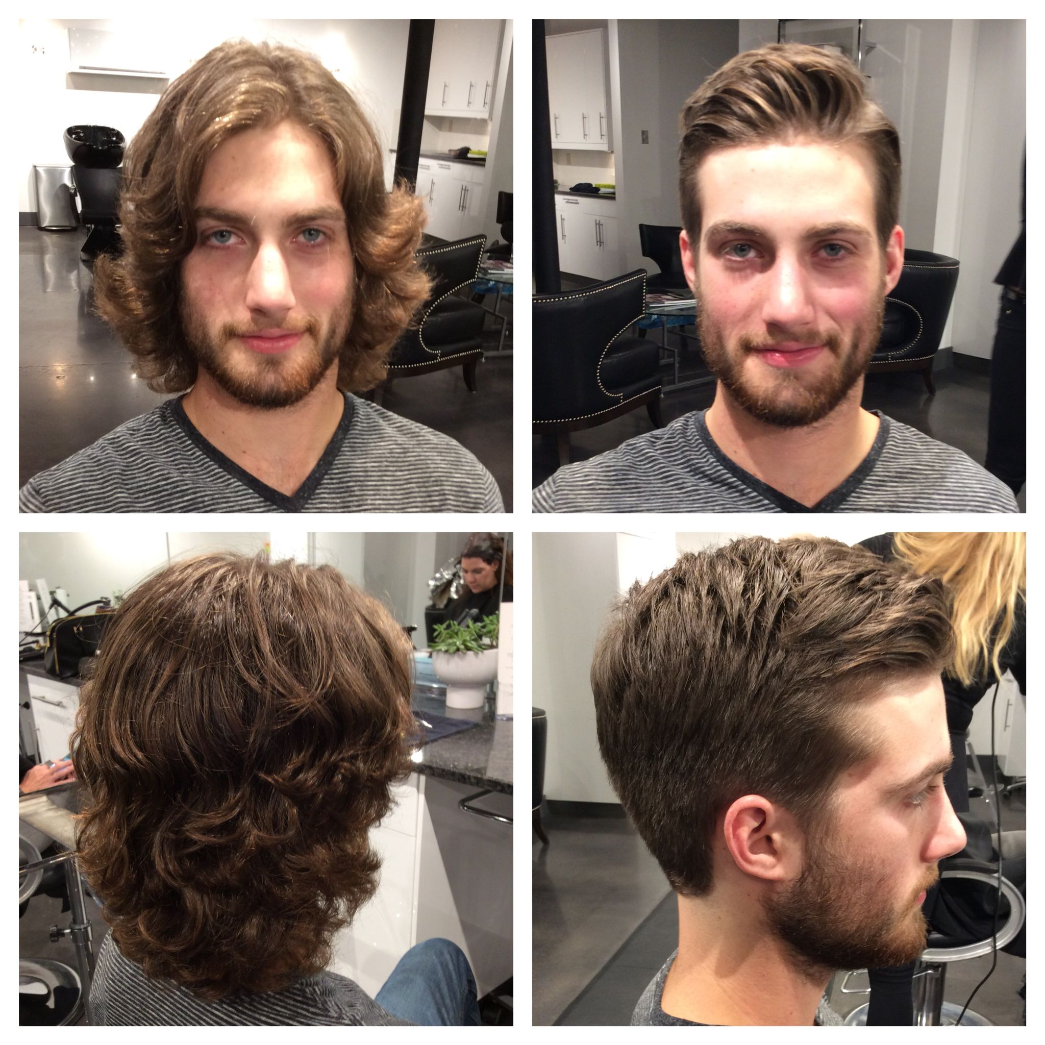 Before And After Men S Haircut Haircuts For Men Mens Haircuts Short Long To Short Hair