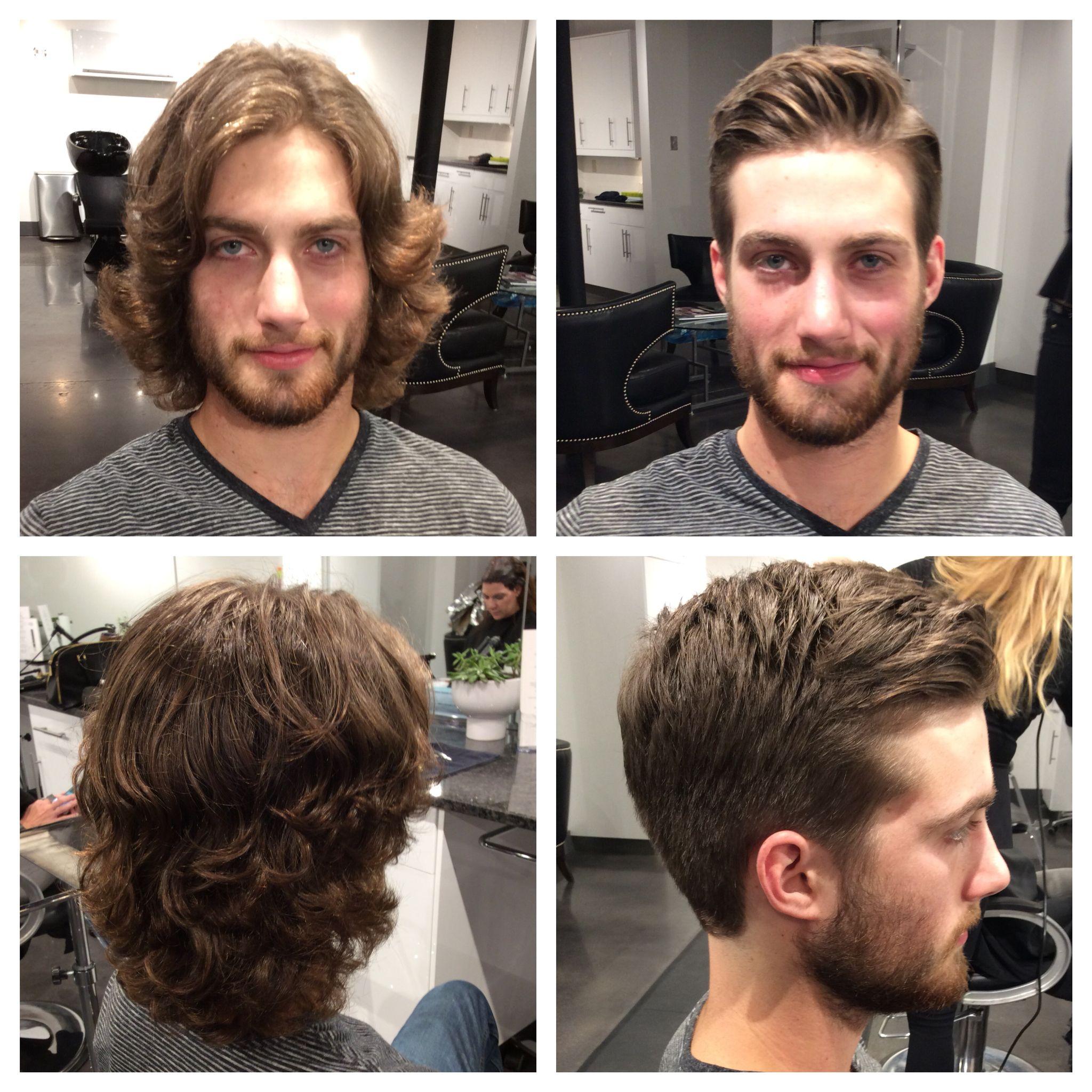 Before And After Men S Haircut Haircuts For Men Mens Haircuts Short Long To Short Hair