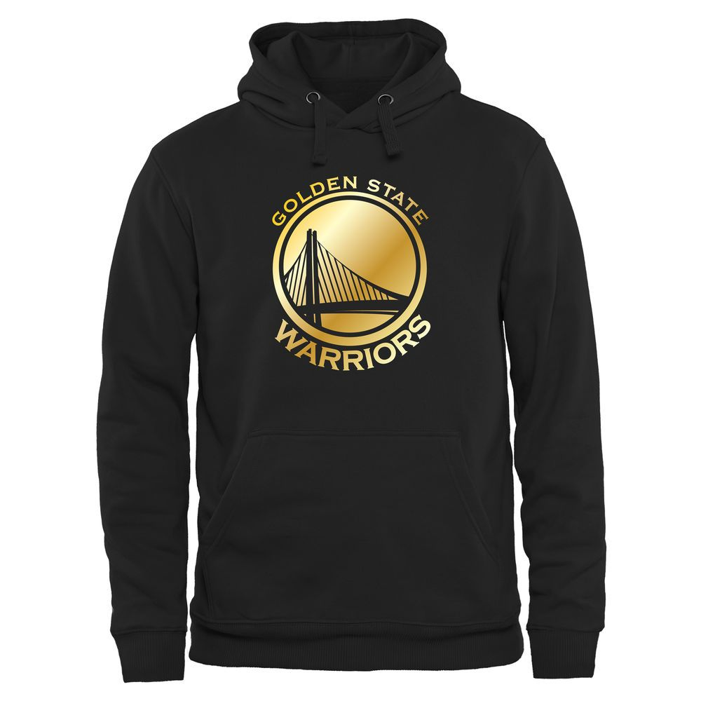 1d0607a2d Men s Golden State Warriors Black Gold Collection Pullover Hoodie ...