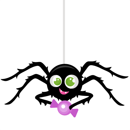 Spider With Candy Titles SVG scrapbook cut file cute clipart files ...