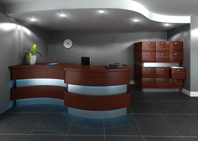 Medical Office Reception Desk Designs And File Cabinets For Charts