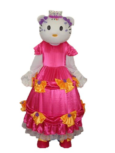 Hello Kitty in Red Dress Mascot Adult Costume