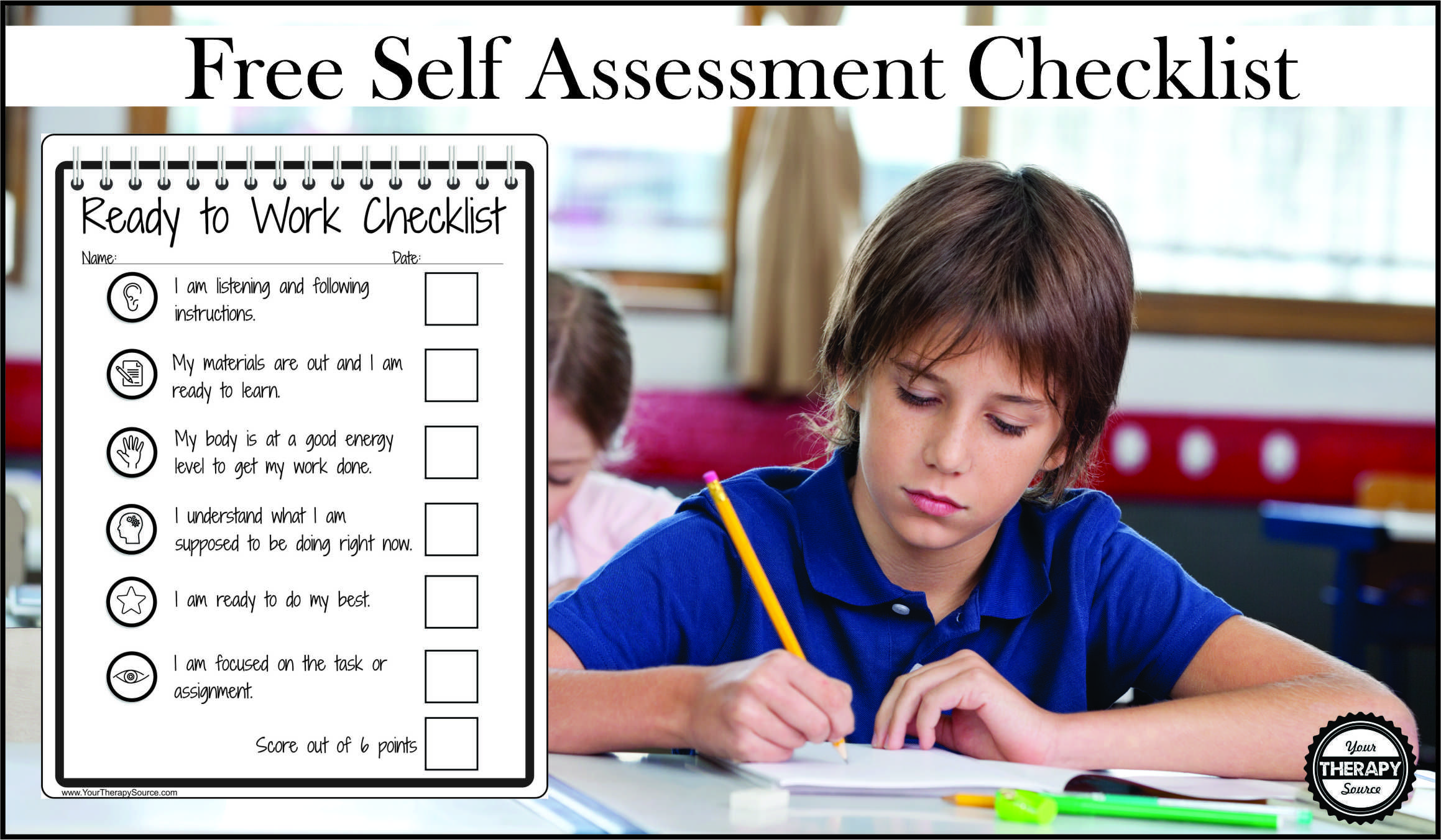 Self Assessment Checklist For In Class Behavior And Self Regulation
