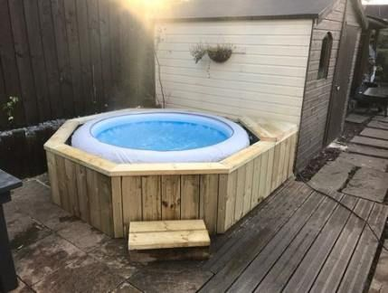 Hot Tub Surround Image By Amanda Cooke On Garden In 2020