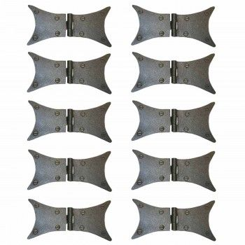 10 Wrought Iron Butterfly Hinge Black Rustproof 180 Degree