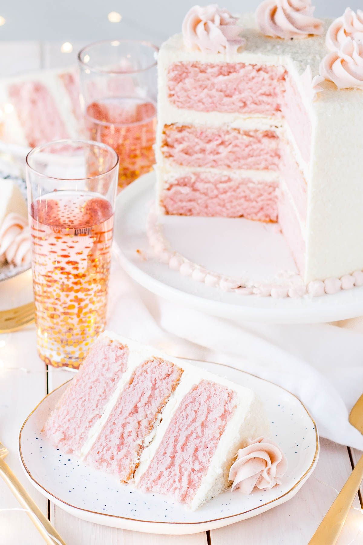 This Pink Champagne Cake is the perfect way to celebrate any ...