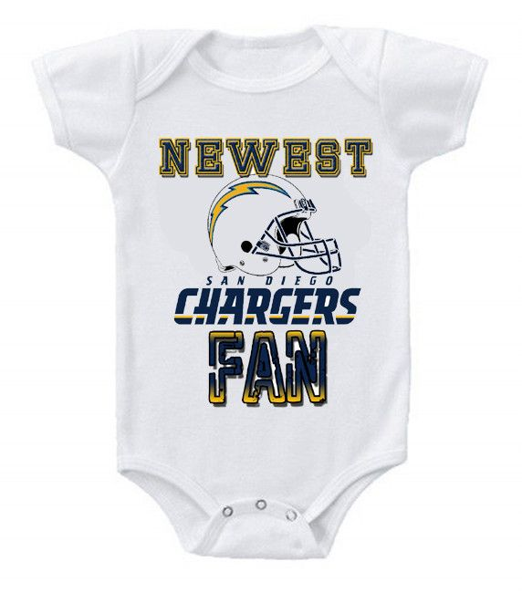 7b4a0a46 NEW Football Baby Bodysuits Creeper NFL San Diego Chargers | kids ...
