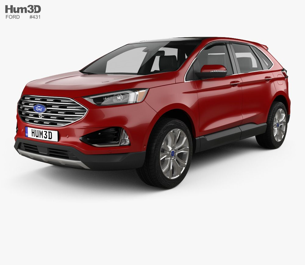 3d Model Of Ford Edge Titanium 2019 In 2020 Ford Edge Ford 3d Model