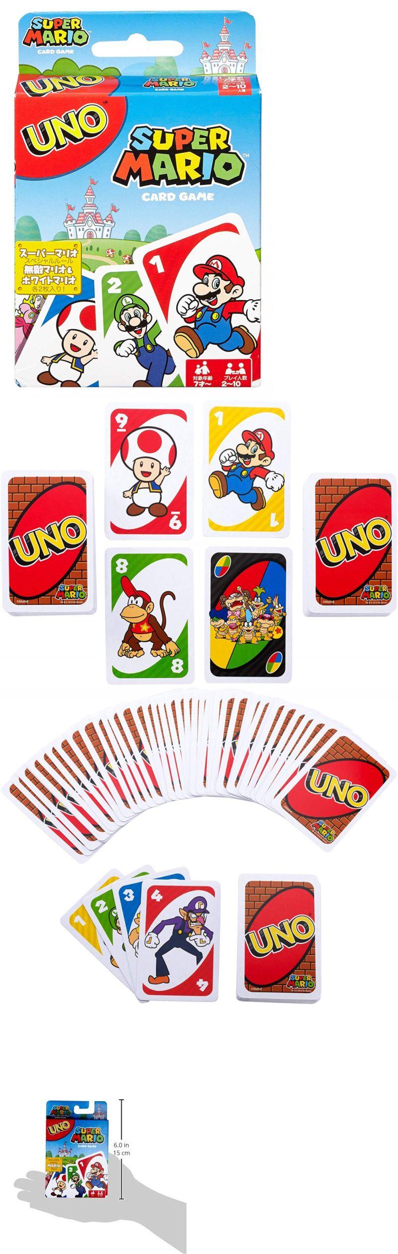 Card Games Contemporary 19082 Uno Super Mario Card Game Buy It