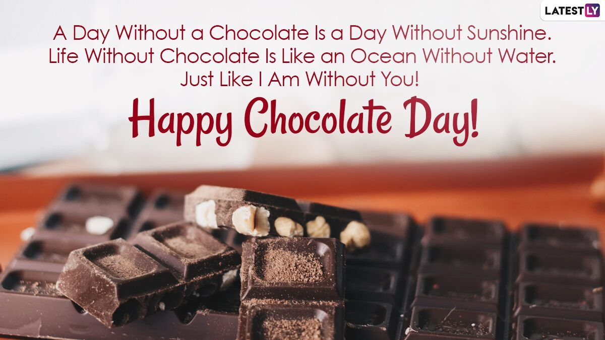 Happy Chocolate Day 2021 Wishes And Hd Images Whatsapp Stickers Chocolate Photos Telegram In 2021 Happy Chocolate Day Chocolate Day Chocolate Photos Happy chocolate day 2021 quotes for