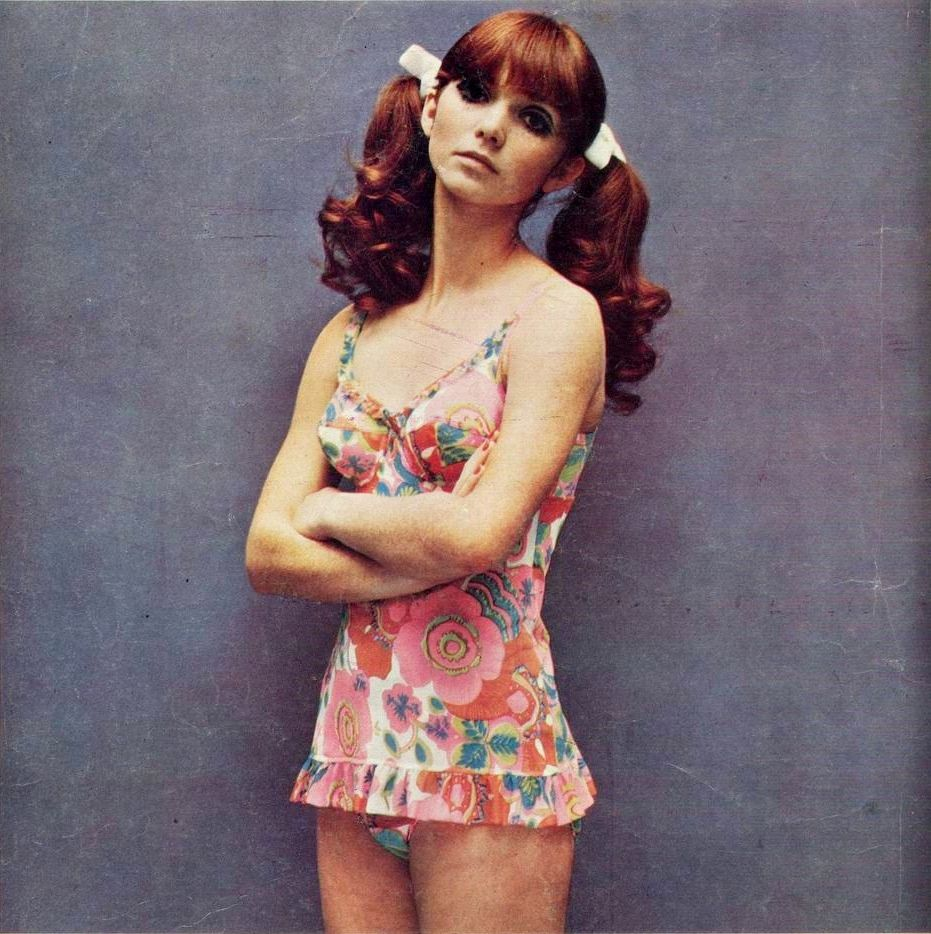 Cute swimsuit in fashion and embroidery magazine december