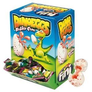 Dino Eggs Fini 200pz Bubble Gum