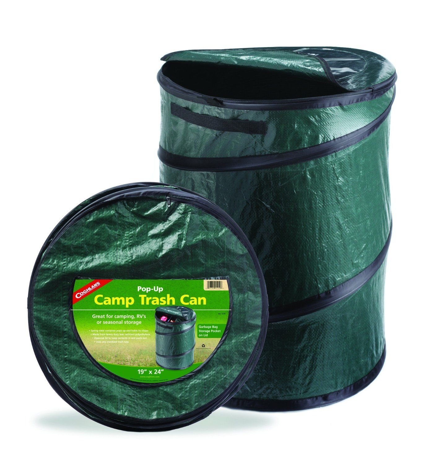 Amazon.com : Coghlans 1219 Camping Trash Can, Spring Loaded Pop Up