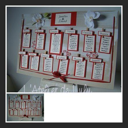 plan de table rouge blanc fait main wedding wedding wedding planner book et wedding. Black Bedroom Furniture Sets. Home Design Ideas