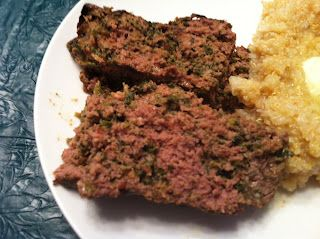 Greekloaf (makes 6-8 3 oz. servings) * olive oil * 3 eggs * 1 tablespoon dried oregano * 1 tablespoon minced garlic * 6 oz feta cheese, crumbled * 10 oz frozen chopped spinach, thawed and drained * 1 cup red onion (can sub regular onion), chopped * 2 lbs ground beef or ground turkey
