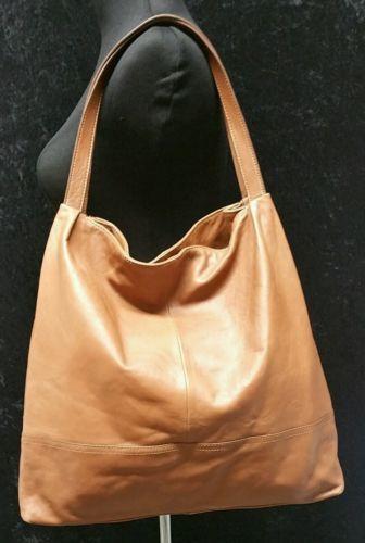 91a97b5fe85d BANANA-REPUBLIC-Chic-Brown-Lamb-Leather-Hobo-Bag-Boho-Style-Shoulder ...