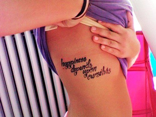 Cute Quote Tattoos For Girls On Side Best Quote Tattoos For Girls