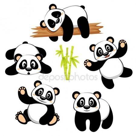 Descargar Lindo Oso Panda Con Diferentes Emociones Aisladas Sobre Fondo Blanco Ilustracion De Stock 158282034 Panda Lindo Osos Pandas Bebes Pandas Dibujo