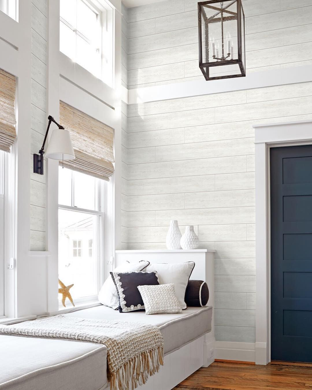 Say Decor On Instagram Shiplap Alert This Off White Shiplap Peel And Stick Pattern Will Bring A White Shiplap Peel And Stick Wallpaper Ship Lap Walls