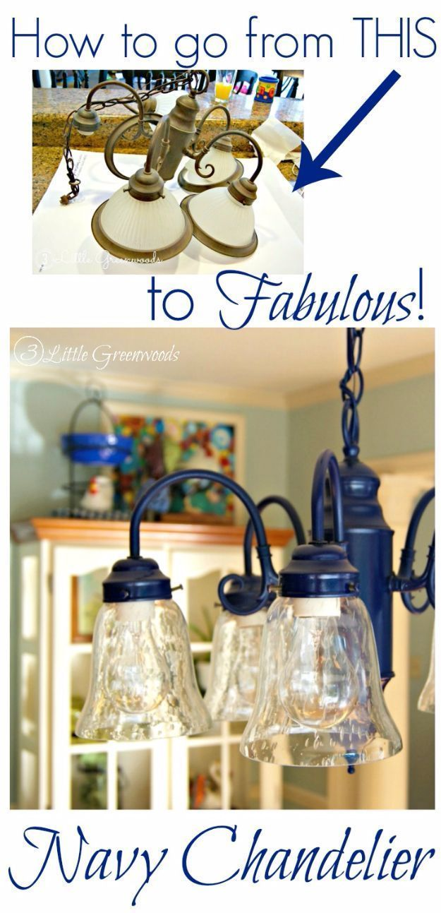Diy Chandelier Makeovers Spray Painting A Navy Easy Ideas For Old Brass Crystal And Ugly Gold Makeover Cool Before