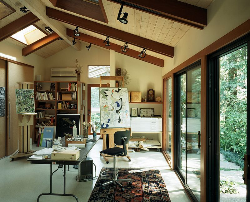 20 Trendy Ideas for a Home Office with Skylights Glass door