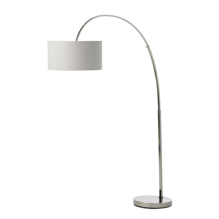 Overarching Floor Lamp Polished Nickel Lamp Overarching Floor