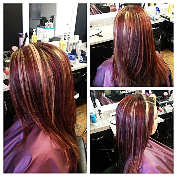 Red Hair Blonde Streaks | Hair | Pinterest | Best Red ...