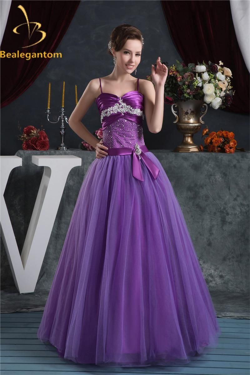 fb7d266fe1 Bealegantom Purple Appliques Ball Gown Quinceanera Dresses 2018 With ...