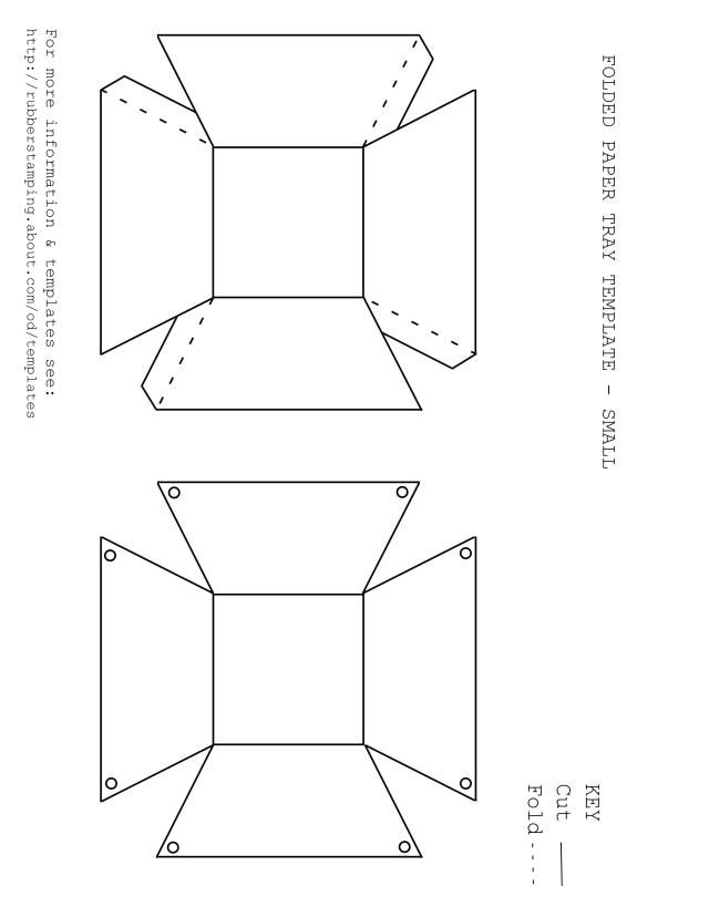 Diy paper baskets with these 3 free printable templates pinterest free printable paper basket pdftemplate in 3 styles folded paper tray template maxwellsz