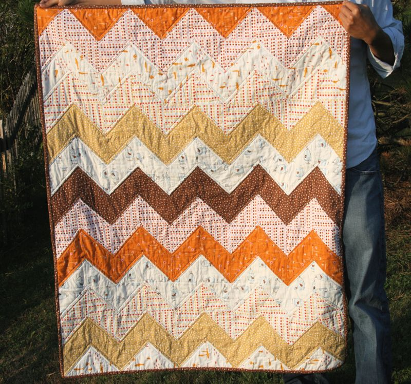 Beautiful Zig Zag quilt
