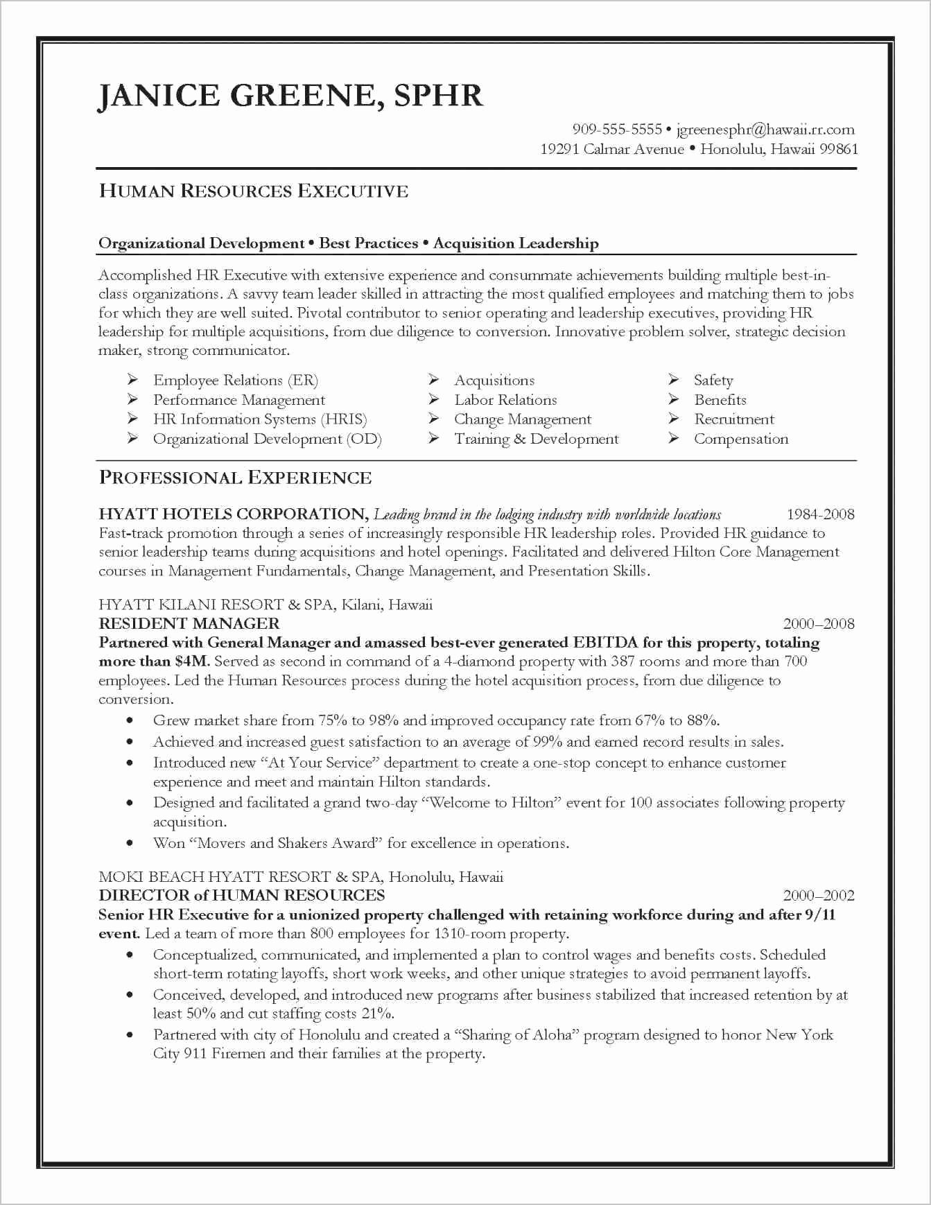 army human resources specialist resume