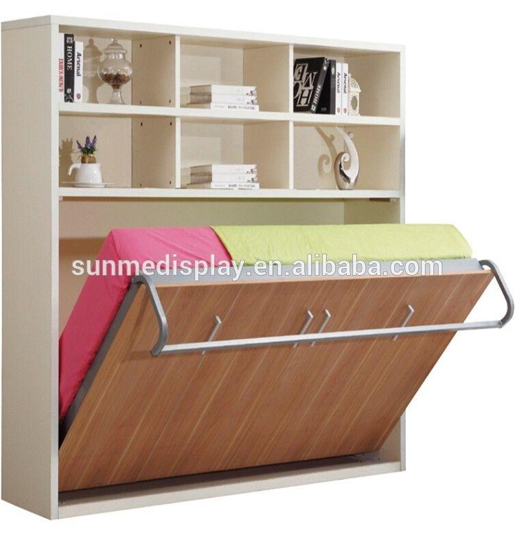 Muebles De Dormitorio,Cama Plegable Doble Muebles Ocultos Pared Cama