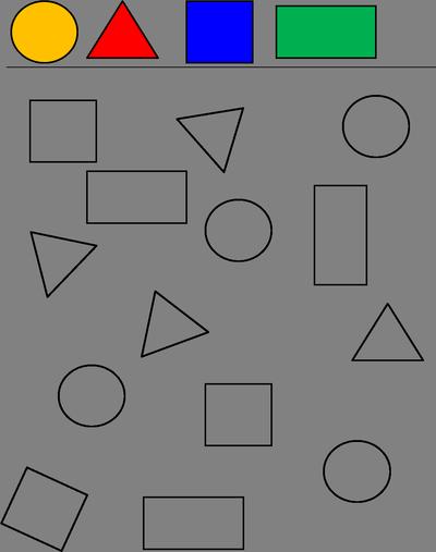 Stenciler: Former 1 | Formen | Pinterest | Vorschule, Mathe und ...